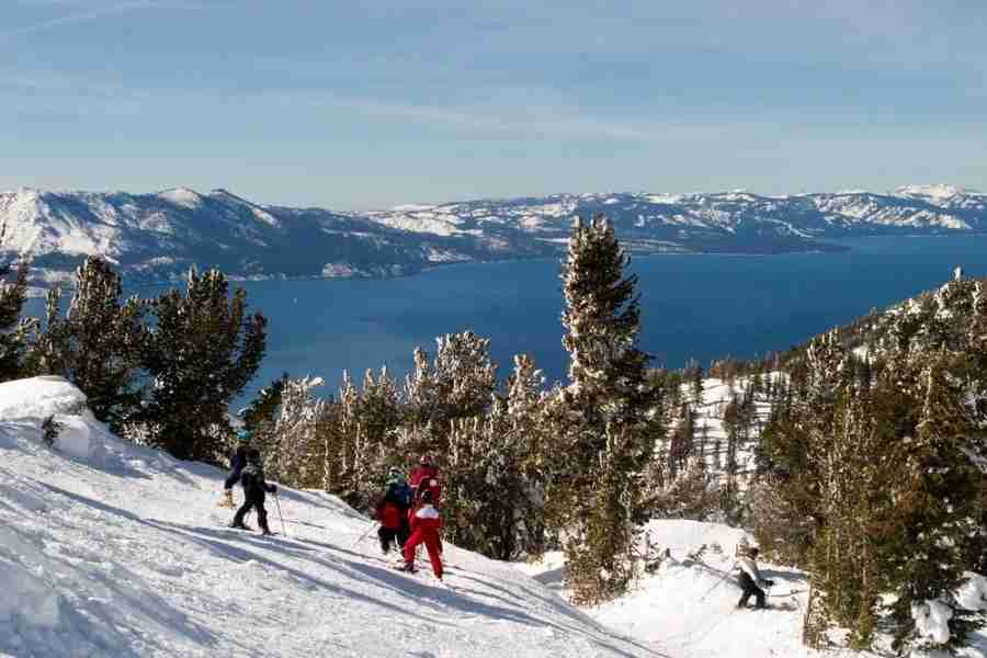 """Lake Tahoeis just one hour from Reno. Image courtesy of <a href=""""http://www.shutterstock.com/pic-3539218/stock-photo-ski-school.html?src=eUInae3-5t5wnTPLTsYRgw-1-28"""">Shutterstock</a>."""