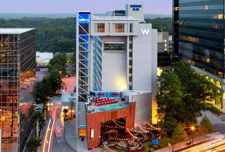 The W Buckhead Atlanta. (Photo courtesy of hotel)