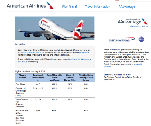 American earn British Airways