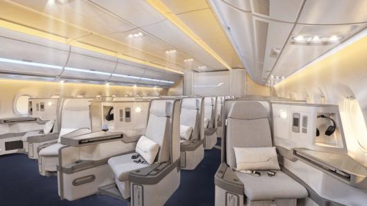 Finnair will install its new business class aboard its A350's.