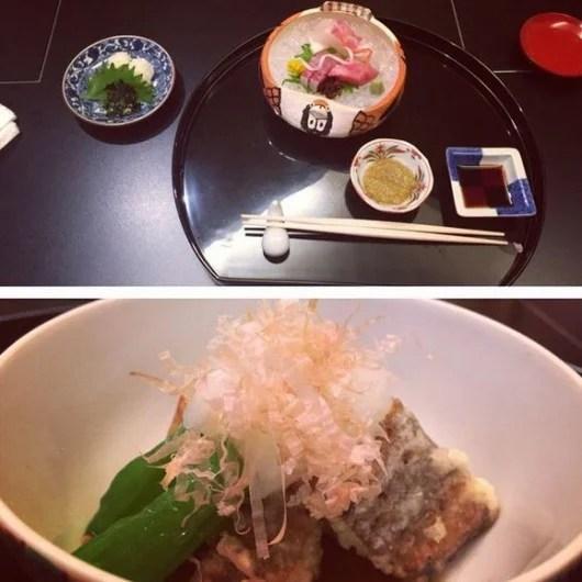 My soup, sashimi and eel at Hana Kyoto