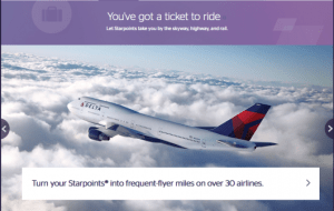 Starwood Preferred Guest has over 30 airline partners.
