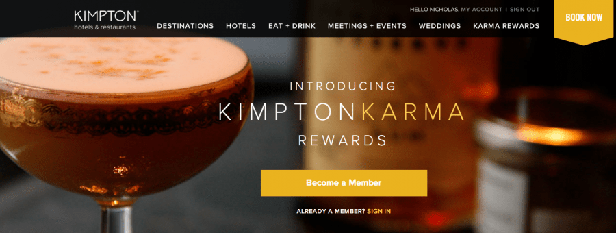 Kimpton is another chain with straight-up status matches, though you must have comparable status to their Inner Circle level.