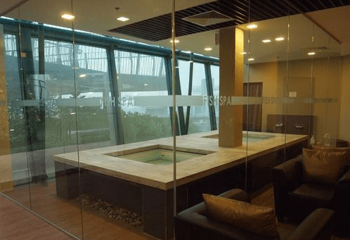 The Fish Spa at Singapore's Changi Airport
