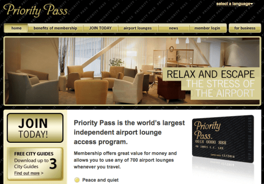 Priority Pass gives you access to hundreds of lounges in airports around the world.