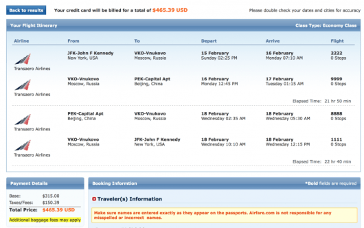 JFK-Beijing for $465 roundtrip