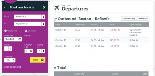 Head from Boston to Keflavik for $99