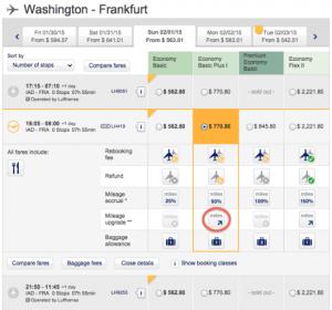 IAD-FRA on Lufthansa