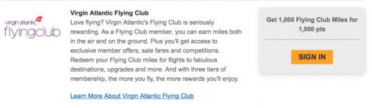 Citi's newest transfer partner is Virgin Atlantic.
