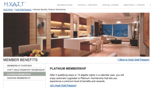 Some cards like the Hyatt Visa offer automatic elite status.