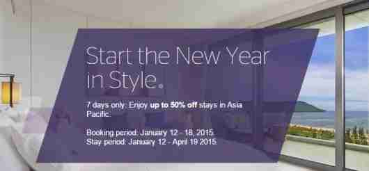 50% off Asia Pacific Starwood stays this spring