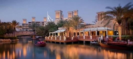 The Madinat Jumeirah is set amidst the Madinat souk.