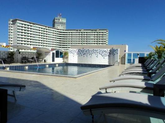 The rooftop pool at the NH Capri