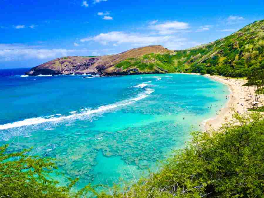 The beautiful beaches of Hawaii are a paradise for using points and miles and are only five hours away from the West Coast.