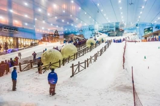 Ski Dubai allows you to ski...inside the Mall of the Emirates. Photo courtesy of Shutterstock.