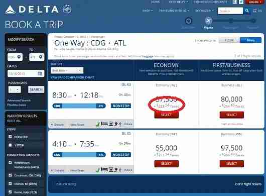 On a one way award flight from Europe to the US, Delta adds a 141 EUR ($169US) surcharger, even to its own flights.