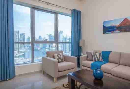Amazing views from this Dubai apartment rental.