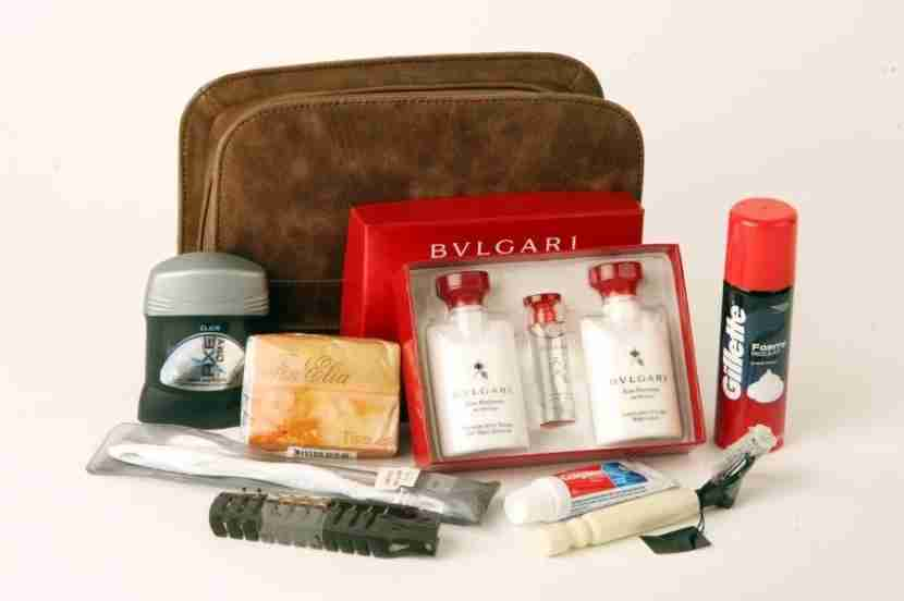Emirates First Class Amenity Kit (Men) - Courtesy of Emirates