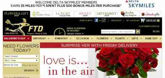 You can earn bonus miles and points for buying flowers today
