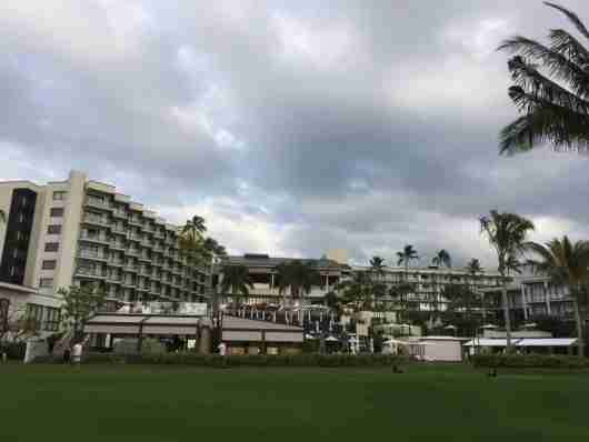 Overview of the Andaz Maui from the beach