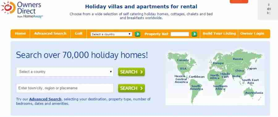 Owners Direct offers some great rentals, especially in Europe