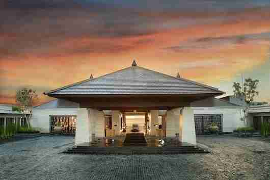 The entrance to the newly opened Ritz-Carlton Bali.
