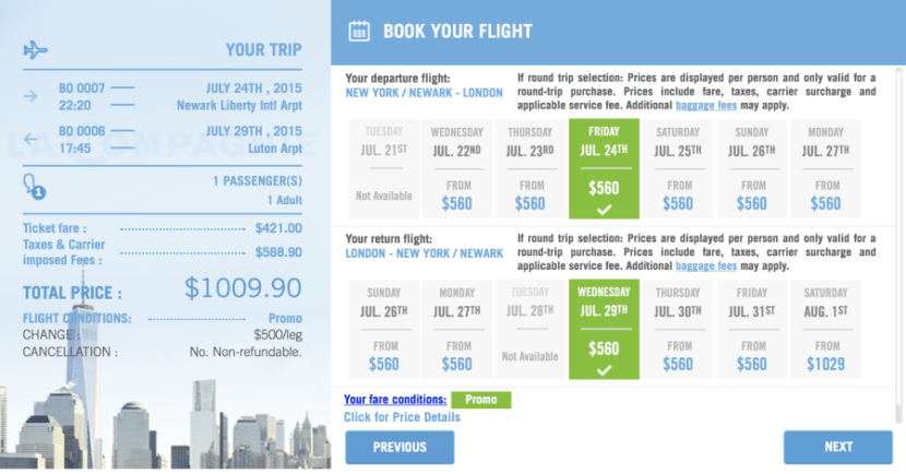 Score Business Class fares to London for $1,009.
