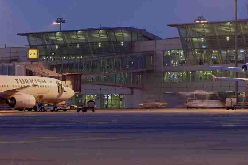 The Istanbul Atatürk Airport.