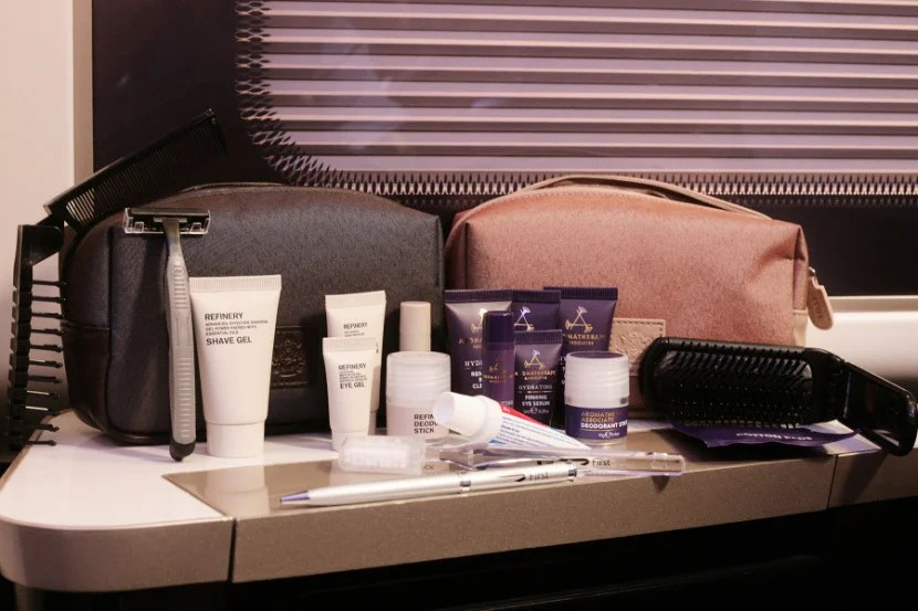 First Class Amenity Kit - Courtesy of British Airways