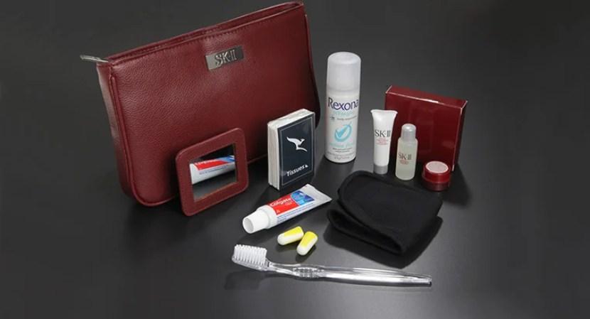 First Class Amenity Kit - Courtesy of Qantas
