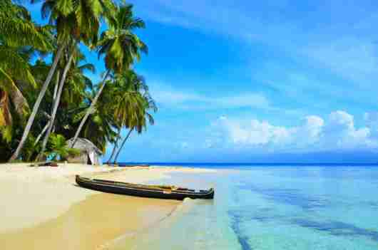The San Blas islands in Panama are kept in pristine condition