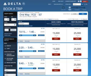 Delta FCO IST AZ