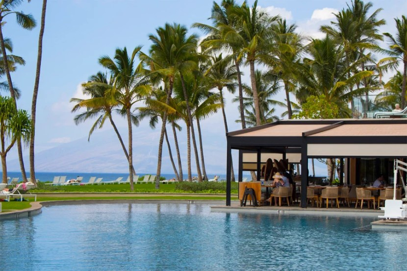 Indoor and outdoor spaces blended seamlessly at the Andaz Maui.