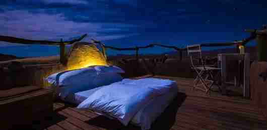 Spend a night under the stars at Little Kulala.