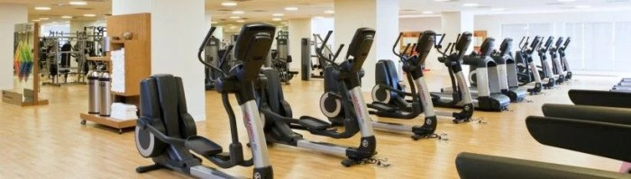The Sheraton Denver has a comfortable, large gym available for hotel guests