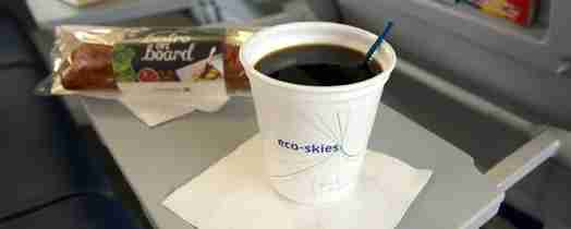 United now serves a Hawaiian Kona Blend coffee on all of its flights.