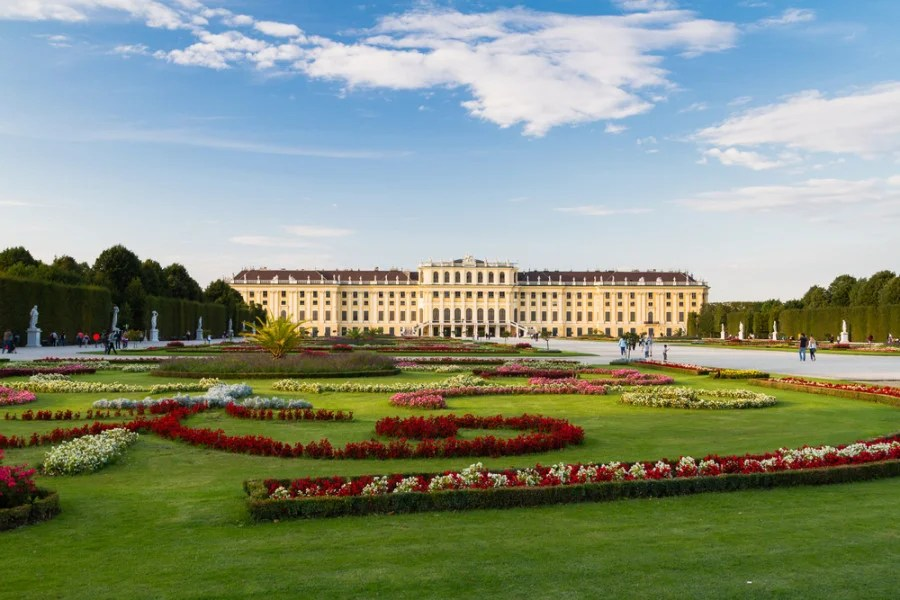 Schönbrunn Palace gardens. Photo courtesy of Shutterstock