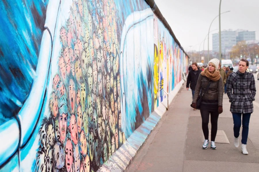 The Eastside Gallery (photo via joyfull on Shutterstock)