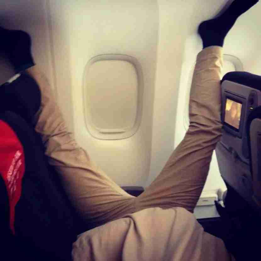 So glad you feel at home while onboard—but seriously?! (Passenger Shaming)