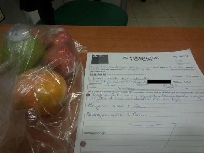 Manzanas y Naranjas = Denuncia y Citacion.