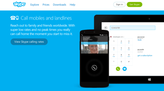 Skype is one popular service for making voice and video calls while traveling.