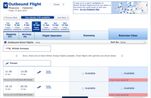 You can use BA.com to even find Finnair award space.
