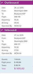 Round-trip Boston to Iceland for