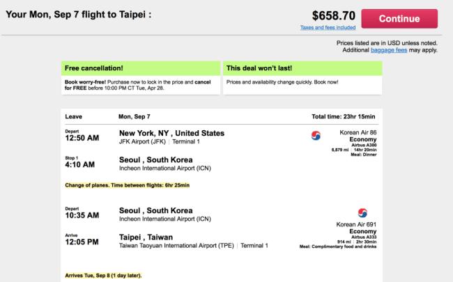 New York to Seoul for $658 round-trip on Korean Air.