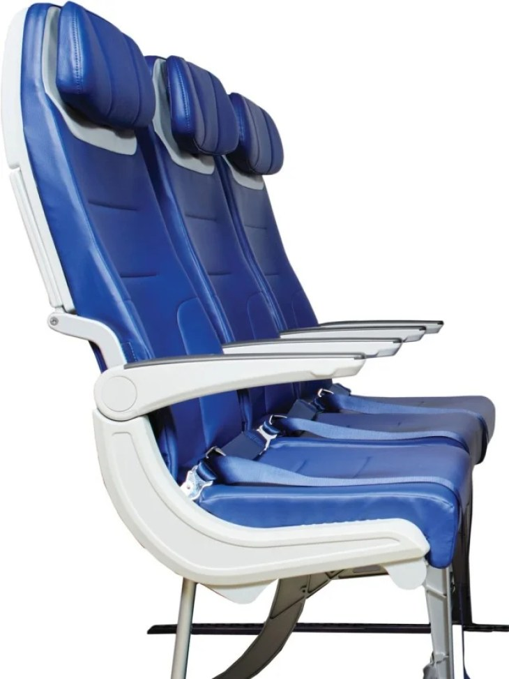 A side view of the new Southwest seats