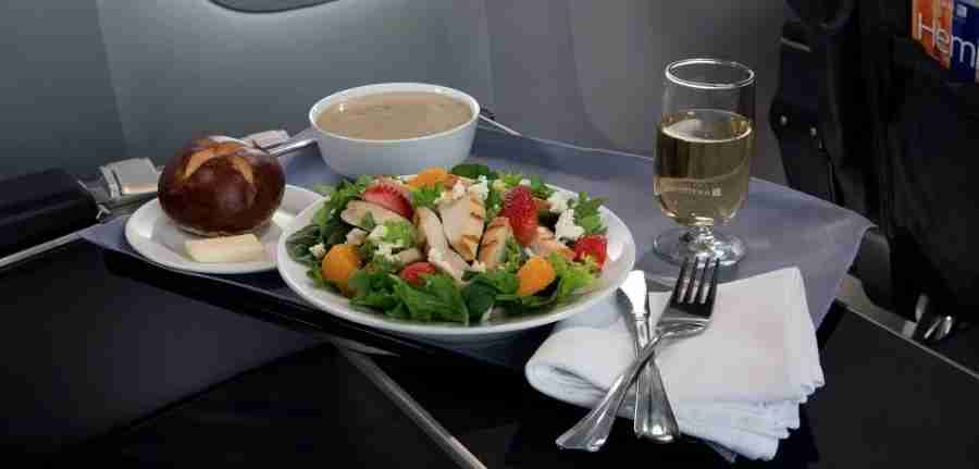 If your CPU clears in advance, you could enjoy a complimentary meal in first class.