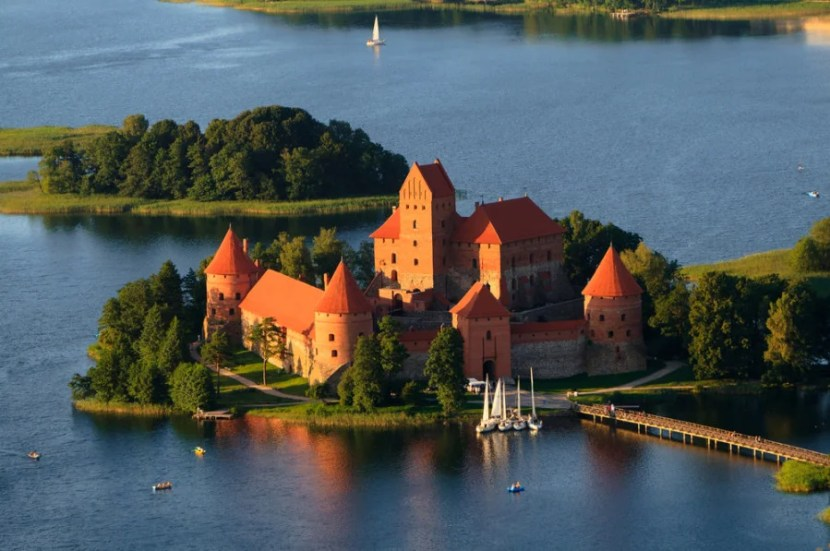 Check out the Trakai castle near Vilinus, Lithuania. Photo courtesy of Shutterstock.