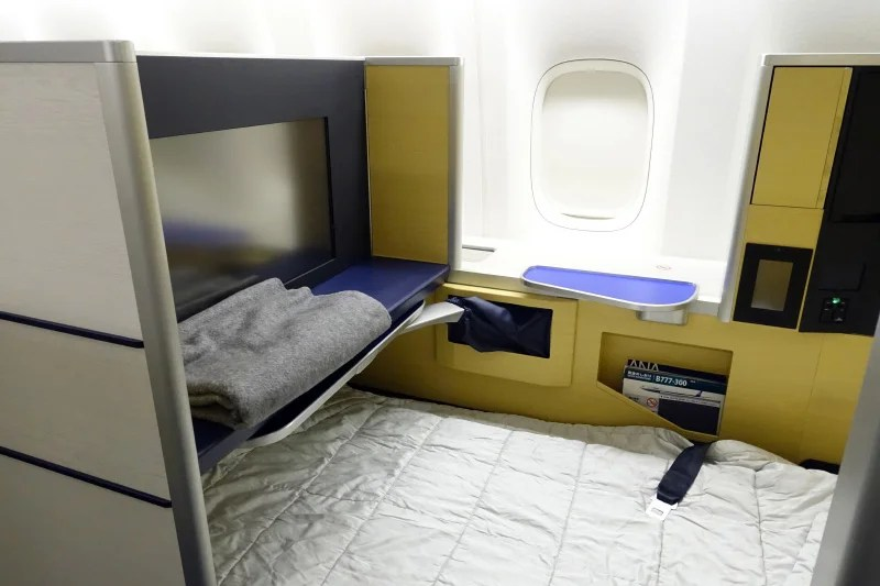 My first-class bed on ANA's 777-300ER.
