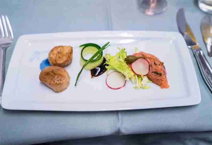 The starter - a selection of canapes.