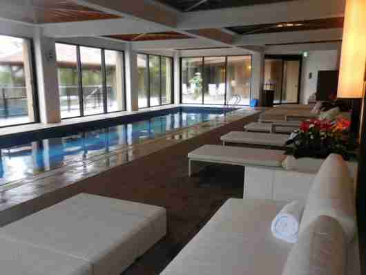 The indoor lap pool at the spa.